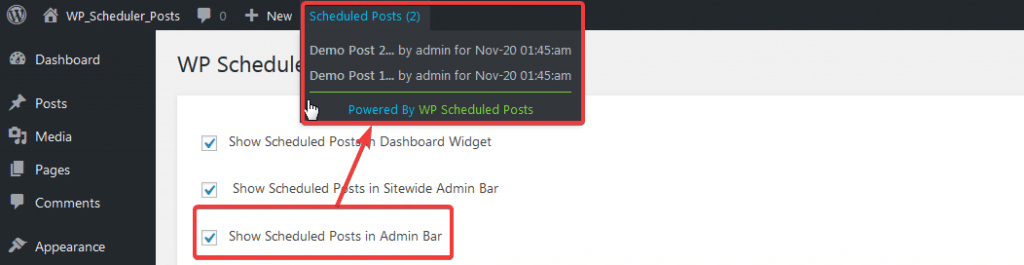 Install and Set Up WP Scheduled Posts