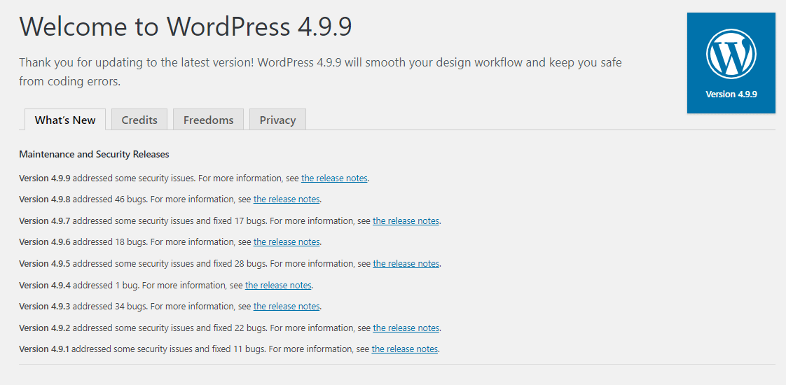 How To Downgrade WordPress To The Previous Version 3